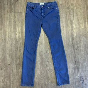 Free People Jeggings Skinny Stretch Pants Mid Rise